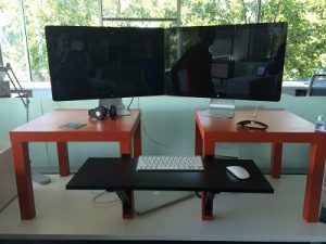 diy cheap stand up desk