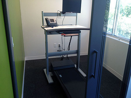 Treadmill office desk