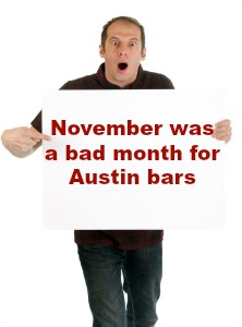 Liquor Ticker: November was a bad month for Austin bars
