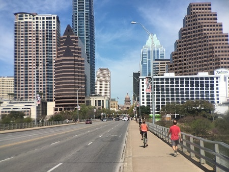 congress bridge downtown Austin