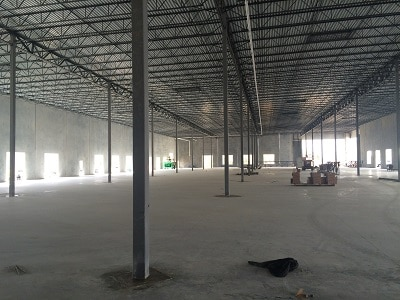 cost to build out new warehouse space