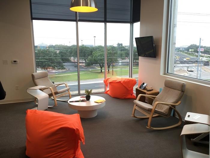 creative breakout office area