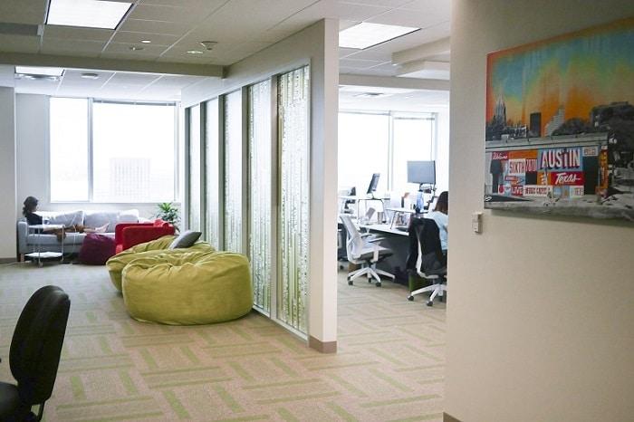creative lounge office area