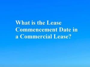commercial lease commencement date