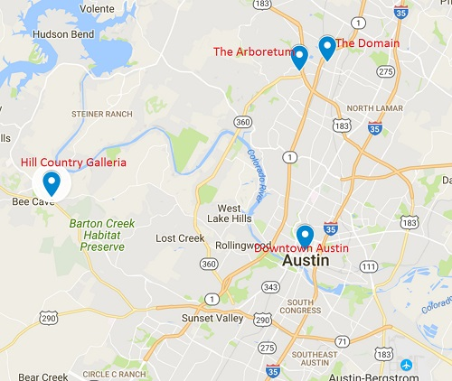 austin office spaces walking distance to retail