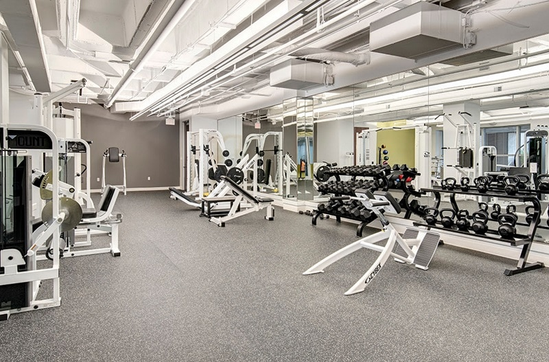 Office space with fitness center