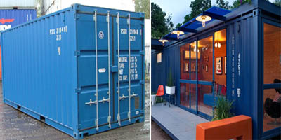shipping container made into home