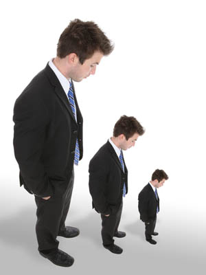 office space per employee shrinking