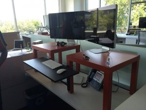 cheap stand up desk diy