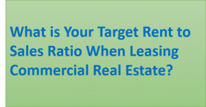 target rent to sales ratio commercial real estate lease