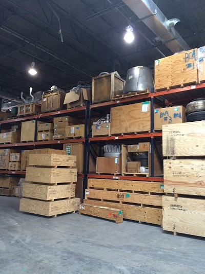 warehouse portion of office flex space
