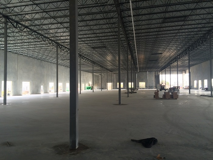 warehouse space cold dark shell