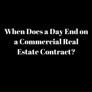 when day ends commercial contract